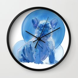 Monochromatic French Bulldog Wall Clock