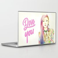 kpop Laptop & iPad Skins featuring I Love You Everyday by Orionebula
