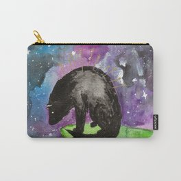 A wolf sits alone at the edge of the sky Carry-All Pouch