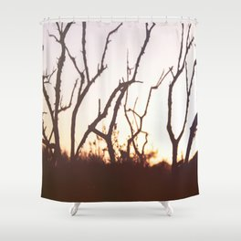 burning Shower Curtain
