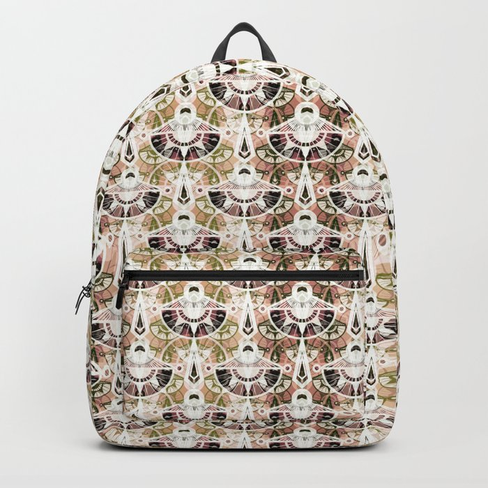 The art design. Retro . Backpack