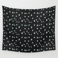 weird Wall Tapestries featuring Weird Dots by Ghostly Ferns