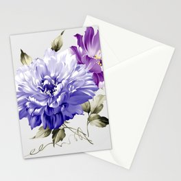 Flowers are full of romance,the leaves and flowers art design Stationery Cards