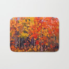 Tom Thomson - Autmn Wood - Canada, Canadian Oil Painting - Group of Seven Bath Mat