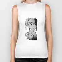 chihiro Biker Tanks featuring Remember Your Name (Chihiro) - Sketch by ScoDeluxe