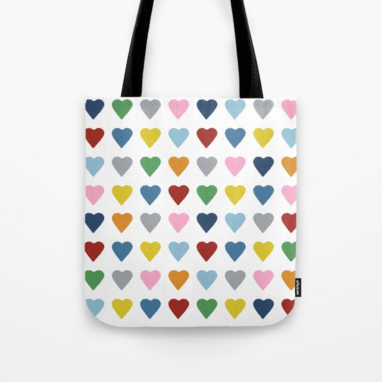64 Hearts Tote Bag