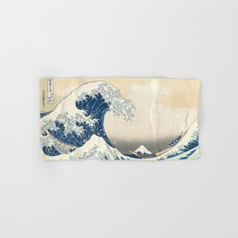 The Great Wave off Kanagawa by Katsushika Hokusai from the series Thirty-six Views of Mount Fuji Hand & Bath Towel