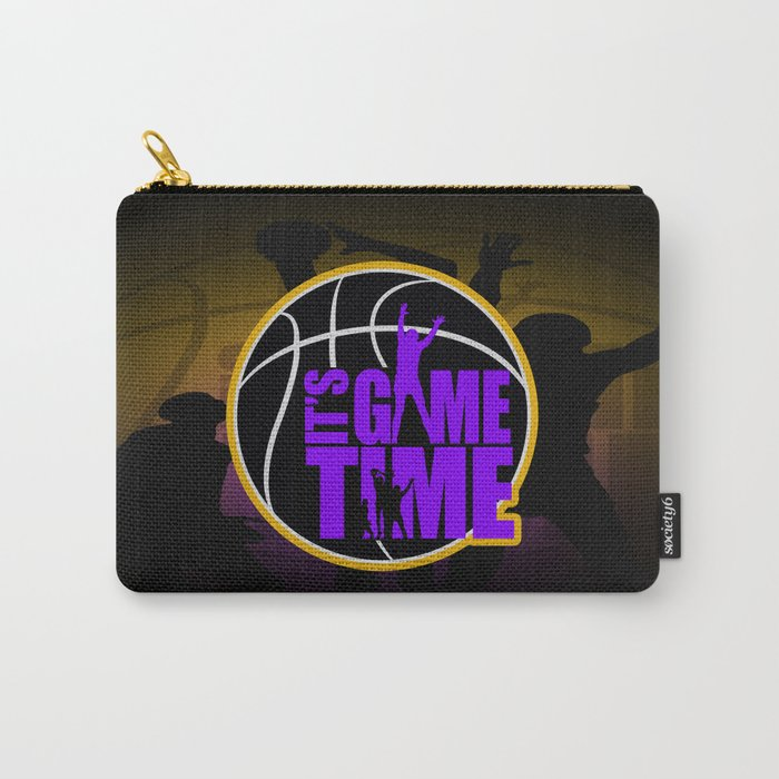 It's Game Time - Purple & Gold Carry-All Pouch