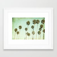 palm trees Framed Art Prints featuring palm trees by Mareike Böhmer