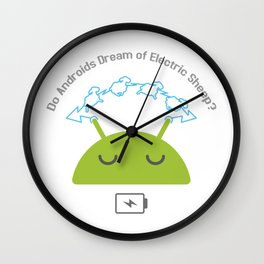 Androids and sheep Wall Clock