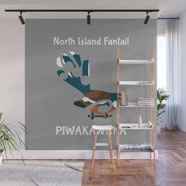 Piwakawaka | Fantail | New Zealand bird Wall Mural