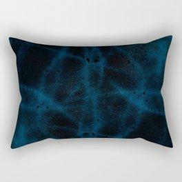 Black & Blue Spatter Swirls Rectangular Pillow