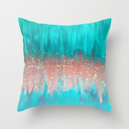 Copper Gold Splash Throw Pillow