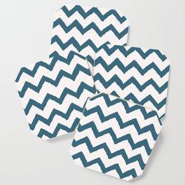 Chevron Teal Coaster