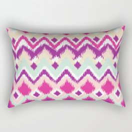 Aztec Tribal Pink Purple iKat Inspired Pattern Design Rectangular Pillow