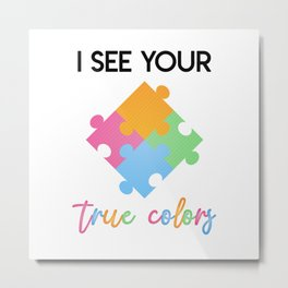 Autism Colors v2.0 Metal Print