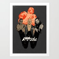 wrestling Art Prints featuring Attitude Wrestling  by RJ Artworks