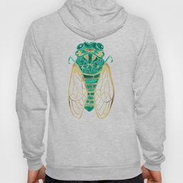 Cicada – Green & Gold Hoody