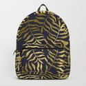 Gold Leaves on Navy Blue by followmeinstead
