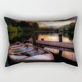 Summer Sunset Over Loch Ard Rectangular Pillow