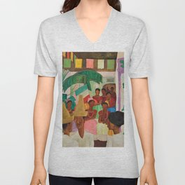 The Rivals of Chapingo by Diego Rivera Unisex V-Neck