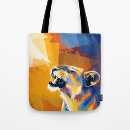 In the Sunlight - Lion portrait, animal digital art Tote Bag