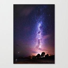 Purple Galaxy (Color) Canvas Print