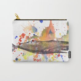 Sperm Whale Animal Art Painting Carry-All Pouch