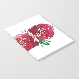 Three Red Christchurch Roses Notebook