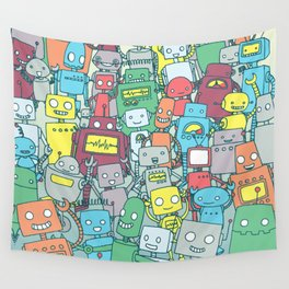 Robot Party Wall Tapestry