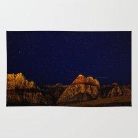 night sky Area & Throw Rugs featuring night sky by haroulita
