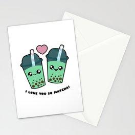 Boba Tea - I Love You So Matcha Stationery Cards