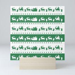 Christmas Parade - (Green) Mini Art Print