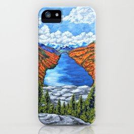 A View of the Blue Mountains of the Adirondacks iPhone Case