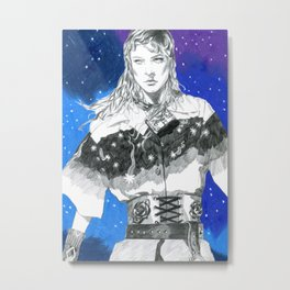 Space Warrior Metal Print