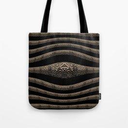NeoTribal 3D Line Geometry Tote Bag