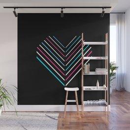 Transcend Neon Heart Wall Mural
