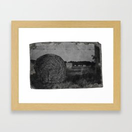 Haybale, Louisiana Framed Art Print