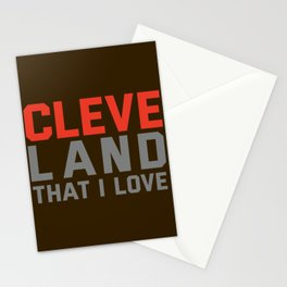 Cleveland That I love Stationery Cards