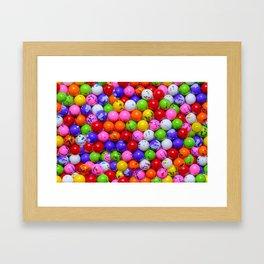 Jawbreaker Real Candy Pattern Framed Art Print