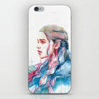 alicexz iPhone & iPod Skins featuring Dragonqueen by Alice X. Zhang