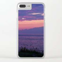Purple Evening Clouds at Sea Clear iPhone Case