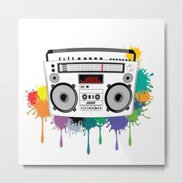 C13D Music Boombox 2 Metal Print