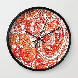 love paisley 4 Wall Clock