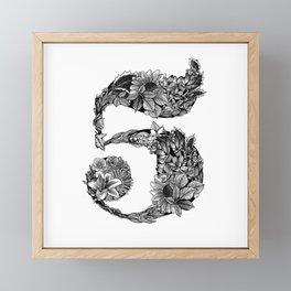 Floral Number 5 Framed Mini Art Print