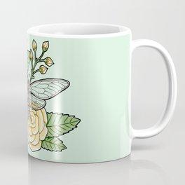 Cicada with Roses - Mint Coffee Mug