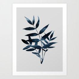 Watercolor Leaves 9 Art Print