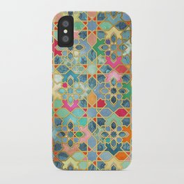 Gilt & Glory - Colorful Moroccan Mosaic iPhone Case