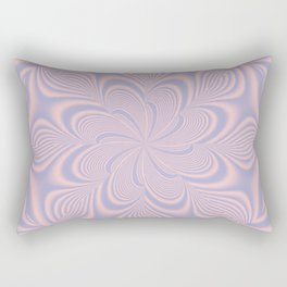 Whirly Bloom Fractal in Rose Quartz and Serenity Rectangular Pillow