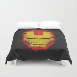 Iron Man splash Duvet Cover